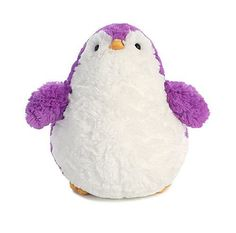 "Penguin Jelly Roll Plush Amethyst (9"" tall)"