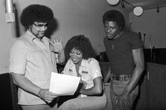 Norman Whitfield with members of The Undisputed Truth at Fort Knox Recording Studios