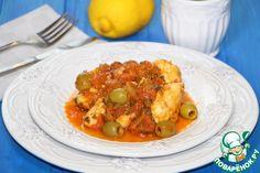 Треска в лимонно-томатном соусе - кулинарный рецепт