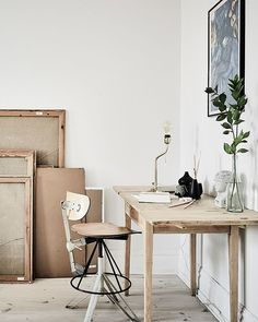 Nordic work space.