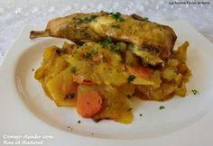 Conejo Asado con Ras-el-Anout Ras El Hanout, Carne, Chicken, Meat, Food, One Pot Dinners, Spice, Healthy Recipes, Rabbits