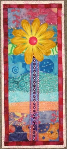 quilted card on tri-fold card stock