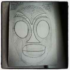 mask from my dream #dailydoodle by Sweetnut's visual diary, via Flickr
