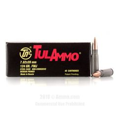 TulAmmo 7.62x39 Ammo - 1000 Rounds of 124 Grain FMJ Ammunition #762x39 #762x39Ammo #Tula #TulAmmo #Tula762x39 #FMJAmmo