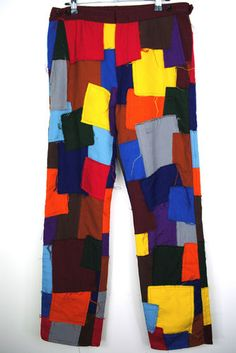 Incredible Comme Des Garcons Homme Plus Iconic Patchwork Pants 2003AW Collection | eBay