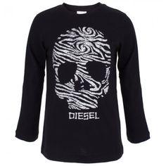 Diesel Thumbprint Skull Logo Tee