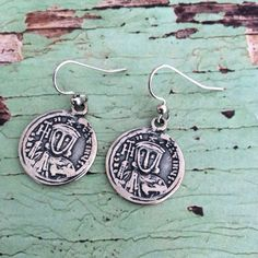 Roman coin charm antique sterling silver plated by rubybluejewels