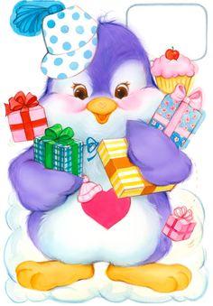 cozy heart penguin - Google Search