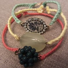 I shall make several of these Linen, Lace, & Love: DIY: Inspired by Anthropologie Pulp Stone Bracelets!  Simple yet gorgeous!!! Thanks to @LinenLaceLove