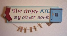 funny laundry signs | This funny laundry sign is perfect for bringing laughter to a daily ...