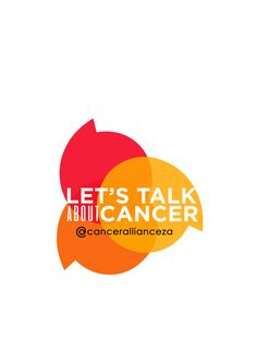 """Overlapping comma-shape """"speech bubbles"""" logo for Cancer Alliance's Cancer Advocacy Toolkit and Campaign: 'Let's Talk About Cancer'. As with The Tobeka Daki Campaign branding, I kept the colours synchronous with Cancer Alliance's corporate colours and feel."""