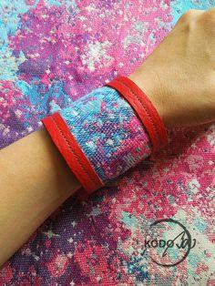 Wrap Scrap bracelet from Natibaby Supernova and leather by KodoBa