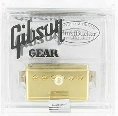 "Gibson BurstBucker #3 Alnico II Humbucker - Gold by Gibson. $115.99. It would be a big mistake to assume that all humbuckers sound alike. Truth is, there are a number of Gibson humbucking pickups available, and each one has its own distinctive personality. The BurstBucker Series delivers all the classic vibe of the mythical ""patent applied for"" (PAF) humbuckers, best known from the 1959 Les Paul Standard. All three BurstBuckers have unpolished magnets and non-pott..."