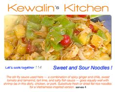 Asian Fusion Cooking:  Sweet & Sour noodles