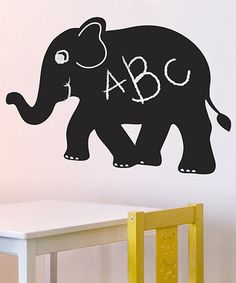 30637b40e Elephant Chalkboard Wall Decal from Lot 26 Studio on  zulily! Chalkboard  Vinyl