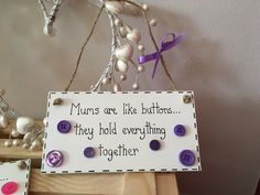 MOTHERS DAY Mums are Like Buttons. Wooden handmade plaque choice of colours Handwritten Text, Family Tree Frame, Perfect Mother's Day Gift, Engagement Cards, Mother Day Gifts, Colorful Backgrounds, Birthday Cards, Handmade Gifts, Hand Painted