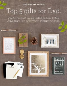 Celebrate Father's Day with something personal designed by the Minted community of artists and customized by you! Shop our list of top 5 gifts for Dad now.