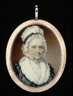 Miniature Portrait Of Mrs Washington, Painted Two Years After Her Husband's Death, and close to her own death. Martha liked dogs and there was many of them at Mount Vernon. She also had pet birds, including a parrot and a cockatoo.