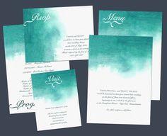 Watercolour invitations #wedding #invitations (Nraevsky)
