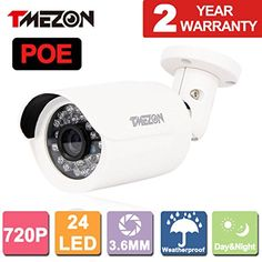 Special Offers - TMEZON 1.0 Mega Pixel 720P HD-IP Weatherproof Outdoor Network ONVIF POE IP Security Surveillance Camera with IR Cut Day Night Vision Bullet for NVR System PoE Power Over Ethernet - In stock & Free Shipping. You can save more money! Check It (June 12 2016 at 06:26PM) >> http://wpcamera.net/tmezon-1-0-mega-pixel-720p-hd-ip-weatherproof-outdoor-network-onvif-poe-ip-security-surveillance-camera-with-ir-cut-day-night-vision-bullet-for-nvr-system-poe-power-over-ethernet/