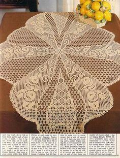 مجلة مفارش الكروشيه . مفارش كروشيه بالباترون . Magic Crochet