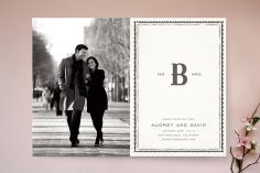 Mr + Mrs Monogram Save the Date Cards by Vellum and Vogue at minted.com