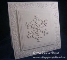 white on white snowflake card - bjl