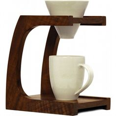walnut coffee drip stand. want.
