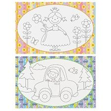 Kids coming to the wedding? Here's something for them! Coloring placemats for the reception