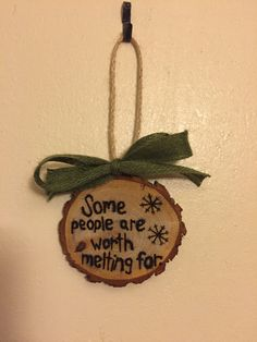Wood Slice Ornament Frozen Inspired by TheChaoticPawPrints on Etsy
