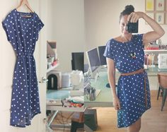 Polka Dot Staple Dress by Maryanne Brezovic Sewing Clothes Women, Diy Clothing, Staple Dress, Sewing Shirts, Clothes Crafts, Sewing For Beginners, Dressmaking, Polka Dots, Dresses