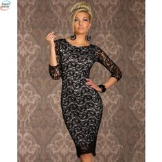 Cheap dress long sleeve, Buy Quality bodycon dress long sleeve directly from China bodycon dress Suppliers: Sexy Women's Summer Hollowed designs Dress Clubwear Siren Paisley Lace Midi Bodycon Dress Long Sleeve Black Lace Midi Dress, Sexy Lace Dress, Dress Red, Dress Long, Cheap Dresses, Sexy Dresses, Evening Dresses, Midi Dresses, Vestidos Sexy