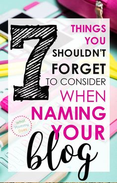 WOW am I glad I found this tutorial today! I was about to make a ton of mistakes naming my blog. This blogger goes over what you SHOULD + SHOULD NOT DO when you pick a blog name. Several things I never considered before. I'm glad I didn't choose the wrong name! | make money blogging, blog name ideas, how to start a blog the right way, make extra money blogging