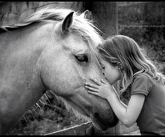 Kids with horses just melt my heart