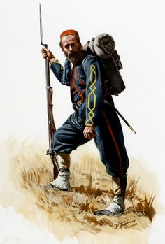 Here is an older study of a member of the Zouave company of the 41st New York Volunteers (German volunteers) , the DeKalb Regiment. The only surviving jacket from this unit is in the vast Smithsonian collection and was used as the reference for this figure.