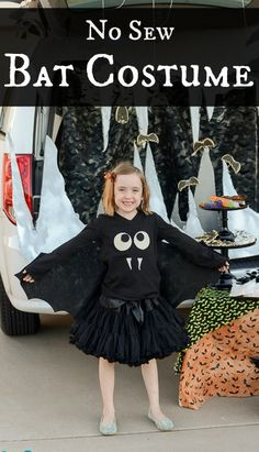 Easy No Sew Bat Costume | Tikkido.com                                                                                                                                                                                 More