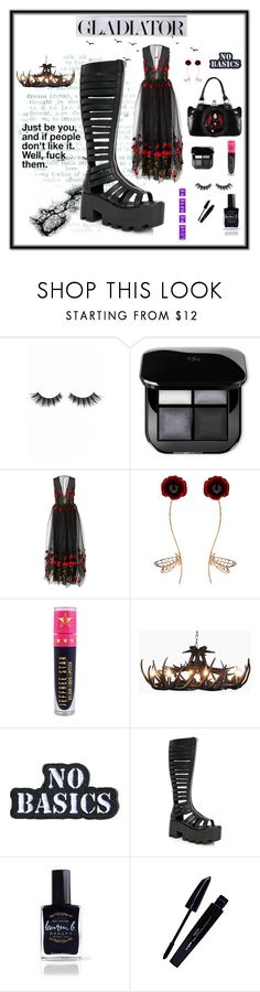 """""""Gladiator"""" by cheryl-muscoe ❤ liked on Polyvore featuring Violet Voss, Alcoolique, Futuro Remoto, Jeffree Star, Demian Renucci, Current Mood, Lauren B. Beauty, L'Oréal Paris, Summer and Boots"""