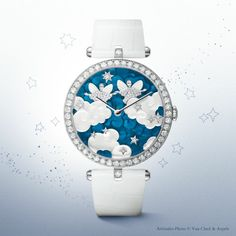 Poetic Astronomy by Van Cleef & Arpels. Lady Arpels Zodiac Gemini timepiece from 'Extraordinary Dials' collection.