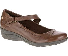 Hush Puppies Womens Blanche Oleena Dark Brown Leather Wedge 7 W D -- This is an Amazon Affiliate link. Read more reviews of the product by visiting the link on the image.