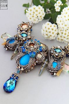 Pikapolina (Apollinariya Koprivnik) is talented bead artist from Slovenia. Her jewelry is really unique and made of best quality beads, Swarovski Crystals and Elements, Semi-precious stones and other