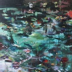 "Saatchi Art Artist Lies Goemans; Painting, ""'What Lies Beneath' 2"" #art"