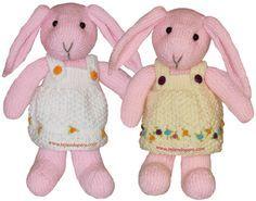 vestido de la coneja tejida a dos agujas o palillos