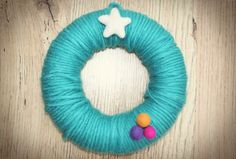 12 Days of Craftmas: Day 1 - yarn-wrapped wreath - Mollie Makes