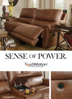 Sense of Power - Paron Dual Power Reclining Sofa - TouchMotion® - Ashley Furniture - #AshleyFurniture