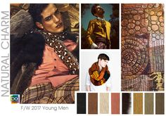#DesignOptions FW 17/18 color report on #WeConnectFashion, Young Men's mood: Natural Charm.