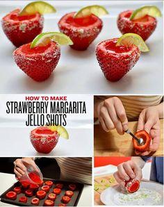 Strawbery Margarita Jell-O shots