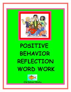 Teach students what positive behavior consists of with this classroom behavior management product.******************************************************************.  Useful in any setting, small group, special education or regular education classrooms.
