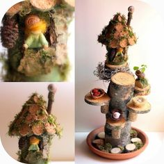 Daily Colours : Fairy Houses - Cork Fairy House Tutorial