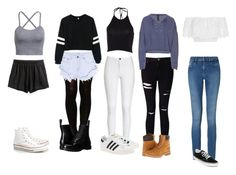 """""""Clothes"""" by palesatchigs on Polyvore featuring adidas Originals, Miss Selfridge, Timberland, ASOS, One Teaspoon, Dr. Martens, Converse, Miguelina, Calvin Klein and Vans"""