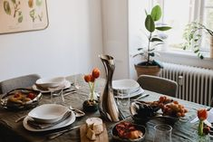 A table setting that's both modern and classic.